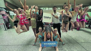 Video: Cork's RebelAcro on hand to launch Ryanair's Childline campaign
