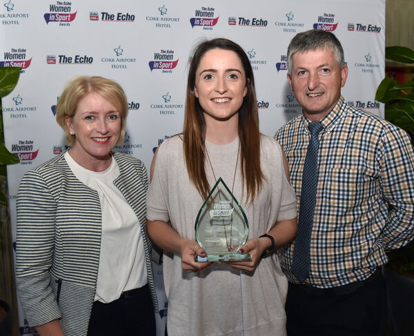 Eimear Scally with her Tom and Mary Scally. Picture: Eddie O'Hare