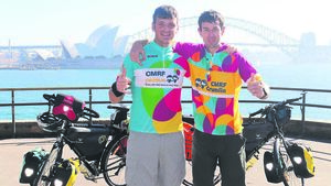 We'll cycle 25,000km: Oz to Ireland!