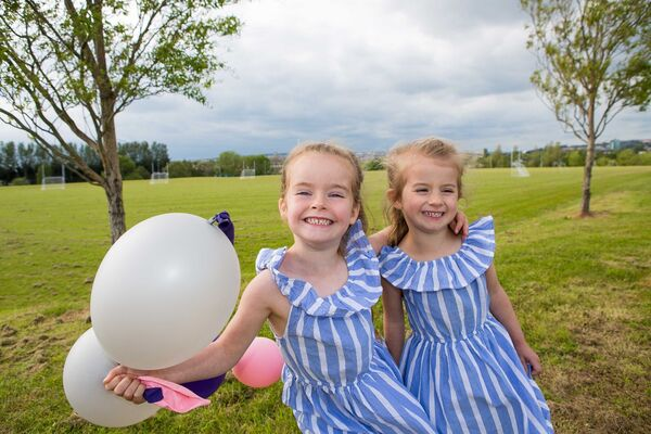 Regan and Tara Heffernan, Douglas, pictured at the opening of Tramore Valley Park.