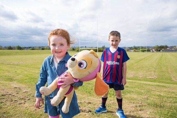 Mia and Noah Murphy, Parklands, pictured at the opening of Tramore Valley Park.