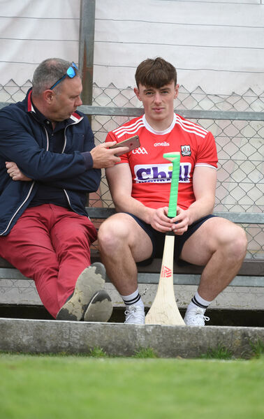 Diarmuid Sheehan chats to Robbie O'Flynn. Picture: Larry Cummins