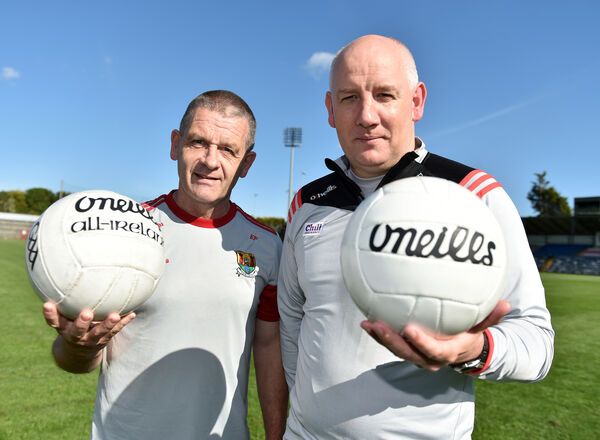 Cork football manager Ronan McCarthy and ladies football boss Ephie Fitzgerald. Picture: Eddie O'Hare