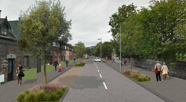 Image of the proposed Albert Road under the Cork Docklands road improvement scheme.