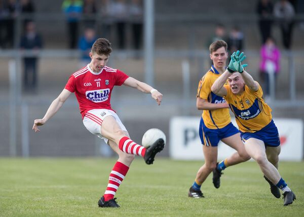 Connor Corbett lands a point. Picture: Eamon Ward