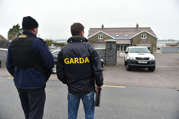 Scene of a Garda/CAB raid on a house at White's Cross outside Cork City. Pic Michael Mac Sweeney/Provision