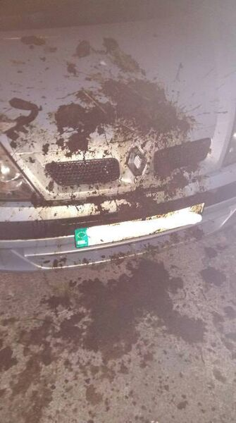 Local activist Noreen Murphy, found her car covered in manure on Wednesday night.