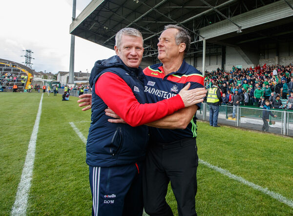 Donal O'Mahony and John Meyler. Picture: INPHO/James Crombie
