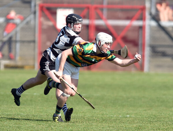 Glen Rovers' Adam Lynch wins the ball from Midleton's Garan Manley. Picture: Eddie O'Hare