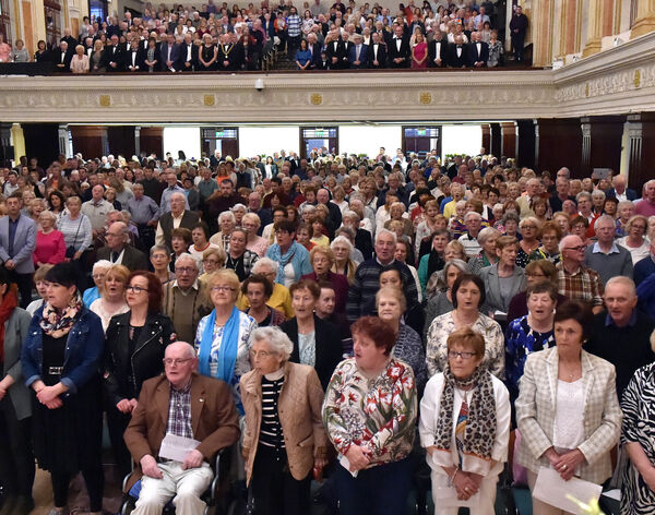 The large attendance at the 43rd Over 60's talent competition final at the city hall, Picture: Eddie O'Hare