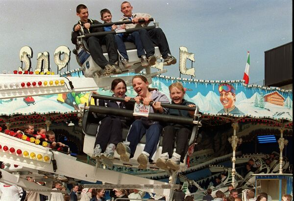 Up and down and around in Perks funfair at the showgrounds.	Picture: Gavin Browne