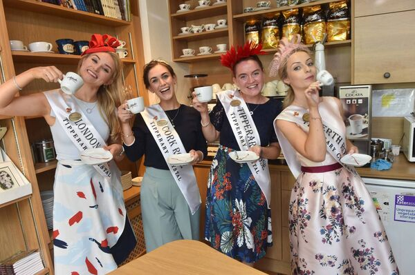 The Roses visited the Seanchaí Kerry Writers Museum in Listowel, Co Kerry, from left, London Rose, Gráinne Hawkes, Cork Rose, Erinn O'Connell, Tipperary Rose, Laura Durkan and Perth Rose, Laura Cannon. Picture: Domnick Walsh