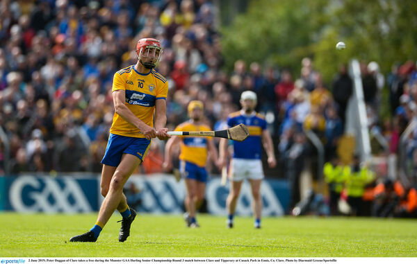 Clare need to see the best of Peter Duggan on Sunday. Picture: Diarmuid Greene/Sportsfile
