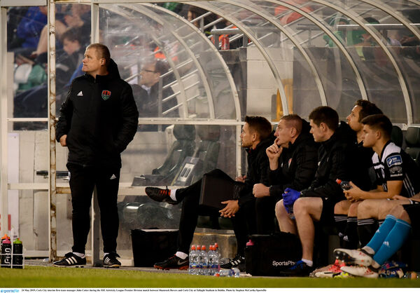 Cork City interim manager John Cotter said their opponents are two teams they would not know much about. Photo by Stephen McCarthy/Sportsfile