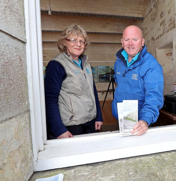Kate Power and Gary Heslin, both Camden Fort Meagher volunteers.Picture: Jim Coughlan.