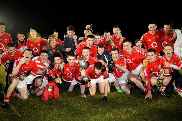 The Cork team celebrate after their defeat of Kerry in the Munster Senior Vocational Schools final in 2008. Picture: Dan Linehan