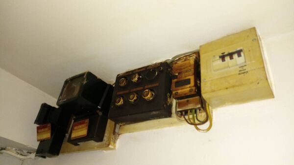 The fuse box at Alan Duggan's council-owned apartment on Noonan's Road.