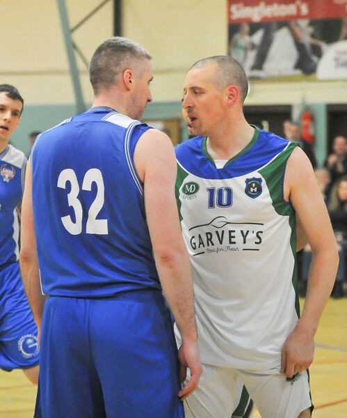 UCC Demons' Colin O'Reilly and Tralee Warriors' Kieran Donaghy square-off.Picture: David Keane.