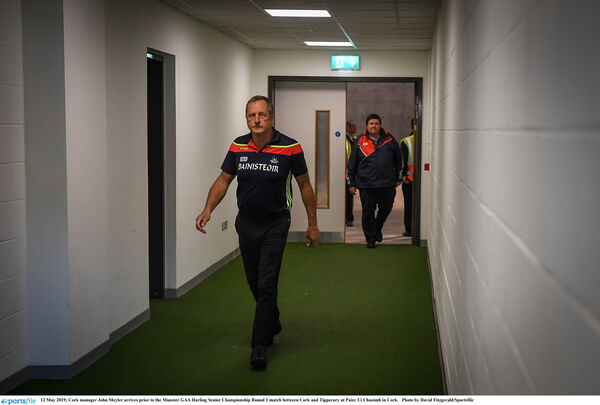 John Meyler in the tunnel. Picture: David Fitzgerald/Sportsfile