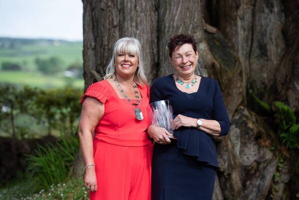 The Network Ireland West Cork Businesswoman of the Year Awards 2019, Ciara Lucy of Spearline Risk and Compliance, NIWC President & Helen Collins of A Taste of West Cork Festival, with her special award.