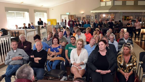 The large crowd at the public meeting for Ballyvolane and surrounding areas residents at Glen Rovers GAA last night. Picture: Eddie O'Hare