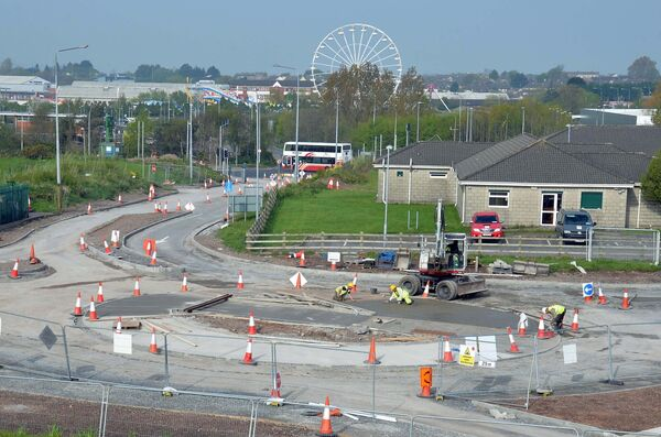 Work in progress on a new roundabout at the entrance to Tramore Valley Park within the grounds off the South Link Road. Picture Denis Minihane.