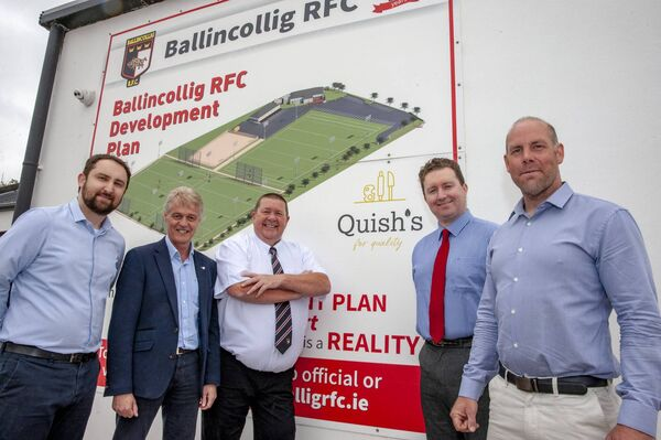 Jim Nyhan, Club President; Niall Fitzgerald of Horgan Lynch Consulting Engineers; Colm Kennedy, Sport Turf Solutions and Ciaran and Cormac Quish, Quish's SuperValu, Ballincollig, club sponsors. Picture: Brian Lougheed