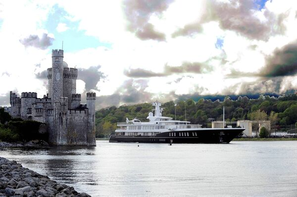 The 81metre luxury motor yacht Air leaving making its way from the Port of Cork past Blackrock Castle on a previous visit to Cork. Picture Dan Linehan