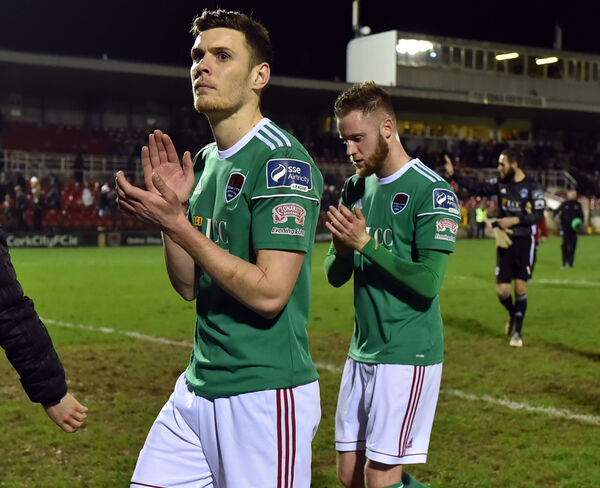 Garry Buckley and Kevin O'Connor after the defeat to Waterford. Picture: Eddie O'Hare