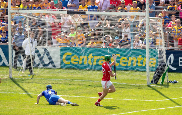 Seamus Harnedy scores a goal past Donal Tuohy. Picture: INPHO/Morgan Treacy