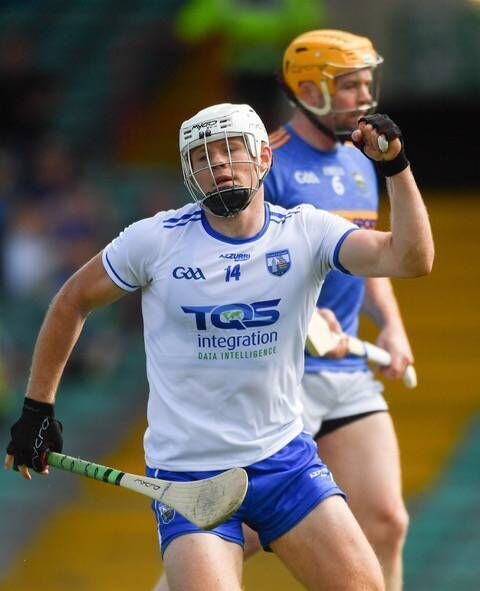 Waterford's Tom Devine pictured with the Mycro Evolution hurley. Picture: Piaras Ó Mídheach/Sportsfile
