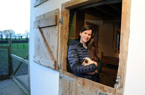 Claire Owers, owner, with Pip, the guinea pig, at the Care Farm near Castlemartyr, Co. Cork.Picture Denis Minihane.