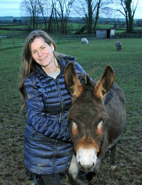 Claire Owers, owner, with Judy at the Care Farm near Castlemartyr, Co. Cork.Picture Denis Minihane.