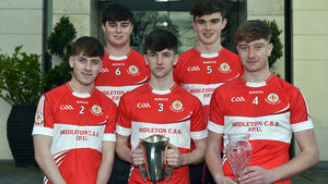 Midleton CBS were honoured for the Harty Cup win at the Rebel Óg awards
