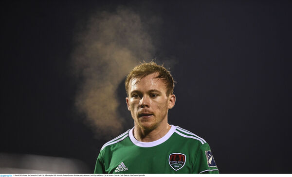 Conor McCormack after the draw with Derry. Picture: Eóin Noonan/Sportsfile