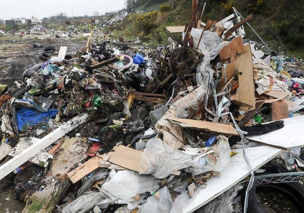 Some of the rubbish to be removed during the clean-up operation at Ellis's Yard, Spring Lane, Cork.Picture: David Keane.