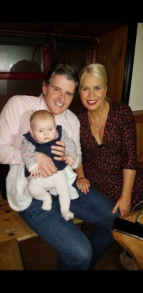 Trevor and Jennifer Ryan, with daughter Annabel.