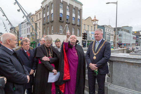 The Blessing of the opening of St. Patricks Bridge Cork. Picture: Robert Coleman