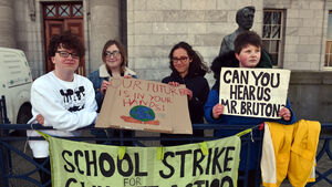 Cork teenagers go on strike joining a global movement demanding action on climate change