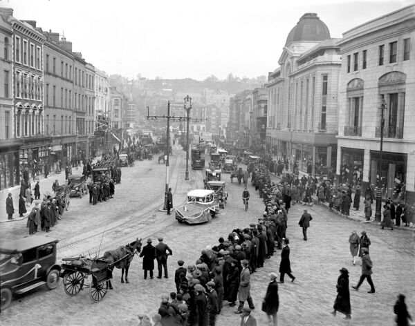 Fordson car parade through Patrick Street in March, 1927.