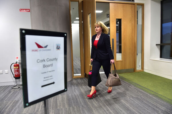 Tracey Kennedy arriving for Tuesday's board meeting. Picture: Dan Linehan