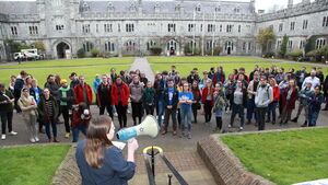 Cork student walkout over lack of Government funding