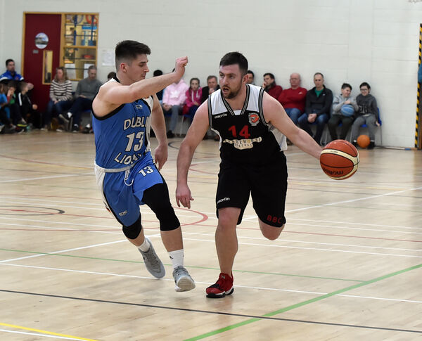 Daniel O'Sullivan takes on Dublin Lions' Muhamed Sabic. Picture: Eddie O'Hare