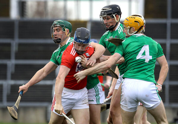 Conor Lehane battling hard. Picture: INPHO/Lorraine O'Sullivan