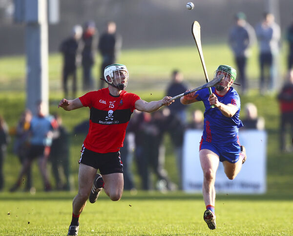 UCC's Shane Kingston in action against Mary Immaculate's Darren Browne. Picture: INPHO/Ken Sutton