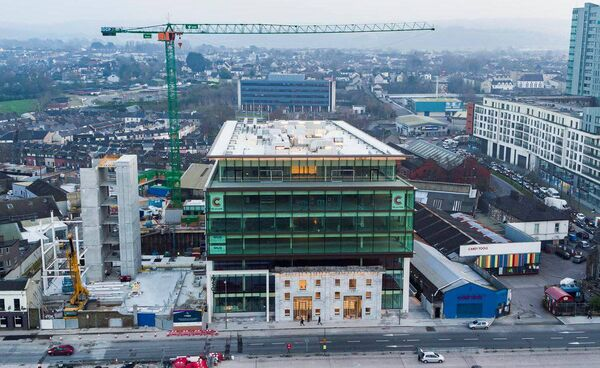 Tenants have taken possession of the newly-completed first block of Navigation Square. Picture: BAM Ireland Twitter.