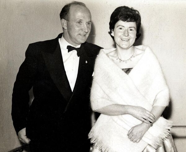 Christy Ring with his wife Rita attending a sports awards ceremony in 1961