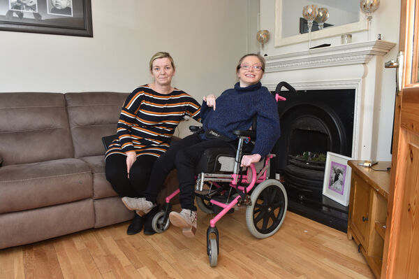 Martina Minihane and her daughter Holly at their home in Mahon. Picture Dan Linehan