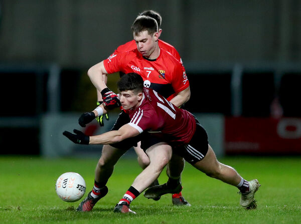 St Mary's Aaron Boyle and Cian Kiely. Picture: INPHO/James Crombie