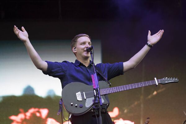 George Ezra on the mainstage at the Electric Picnic. Photo: Michael Donnelly.